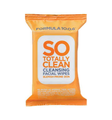 FORMULA 10.0.6 So Totally Clean Facial Wipes 25 wipes image