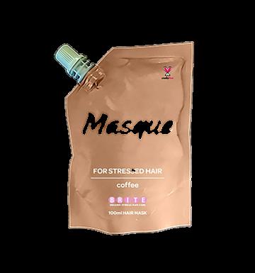 BRITE ORGANIX Masque For Stressed Hair - Coffee (100ml) image