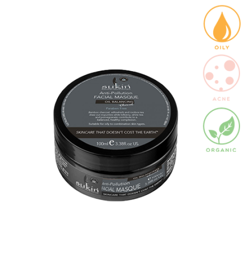 SUKIN Oil Balancing Plus Charcoal Anti-Pollution Facial Masque (100ml) image