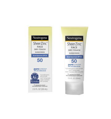 NEUTROGENA Sheer Zinc Face Dry-Touch Suncreen Broad Spectrum SPF 50 (59ml) image