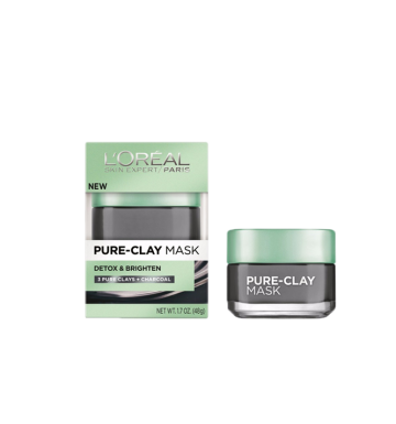L'OREAL Detox & Brighten Clay Mask (50ml) image