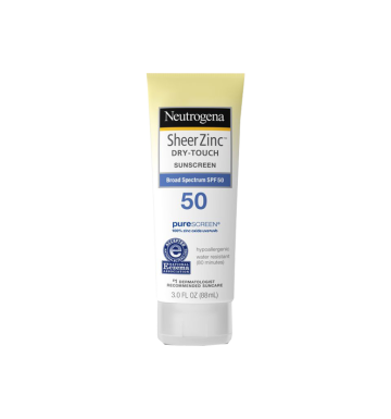 NEUTROGENA Sheer Zinc Dry-Touch Sunscreen Broad  Spectrum SPF 50 (88ml) image