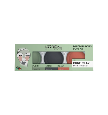 L'OREAL Pure Clay Multi-Masking Play Kit 3 pack image