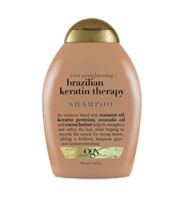 OGX Ever Straight - Brazilian Keratin Therapy Shampoo (385ml) image