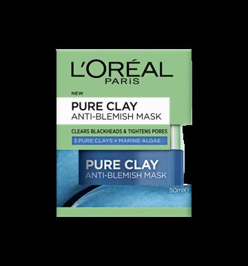 L'OREAL Pure Clay Anti-Blemish Mask: Marine Algae  (50ml) image