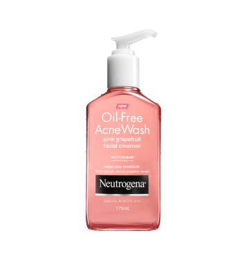 NEUTROGENA Oil-Free Acne Wash Pink Grapefruit Foaming Scrub (175ml) image