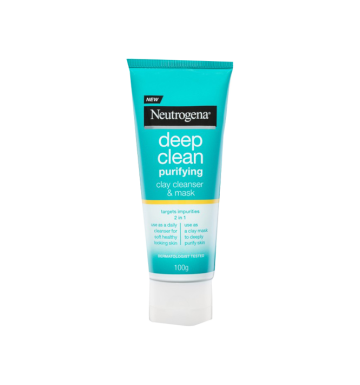 NEUTROGENA Deep Clean Purifying Clay Cleanser & Mask (100g) image