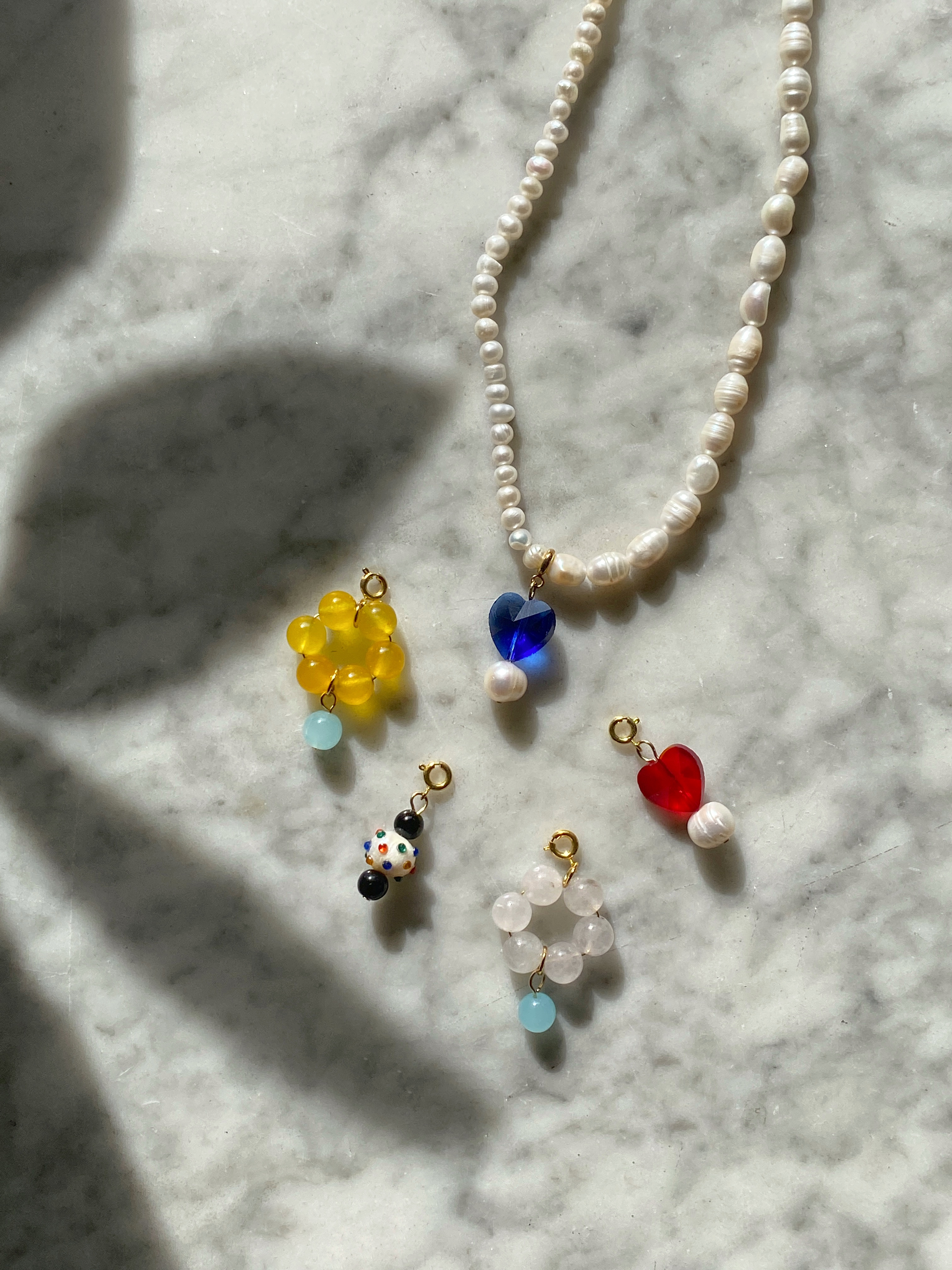 it pearl necklace + charm