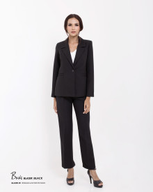 BASIC BLACK BLAZER SET