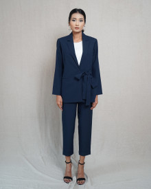 ABBY NAVY BLAZER SET
