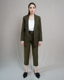 KLAIR  OLIVE BLAZER SET