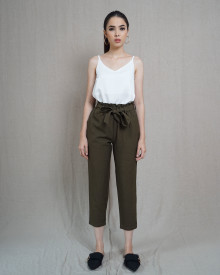SCALLOP PANTS OLIVE