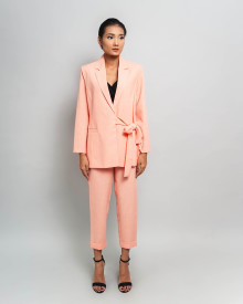 ABBY PEACH SALMON BLAZER SET