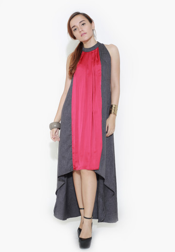 Pink Pleated Swing Dress image