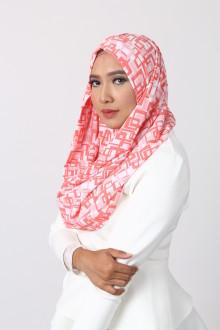 Block Orange Hijab
