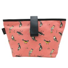 Organizer Pouch Birds of Indonesia Pink