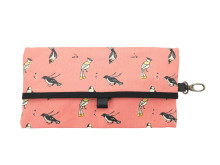 Tissue Travel Pouch Birds of Indonesia Pink
