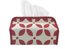 Tissue Cover Kawung Red