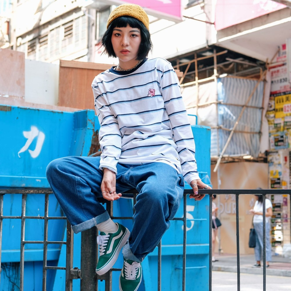 HK Stripe Pigko Tees