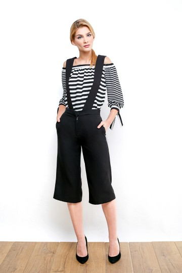 BADGLEY OVERALL CULOTTE - BLACK image