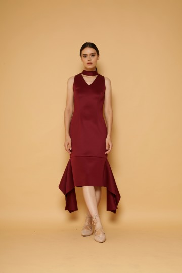 Alchemy Dress in Maroon image