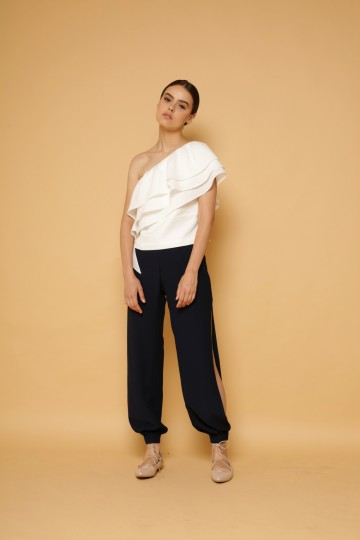 Illusion Pants in Navy image