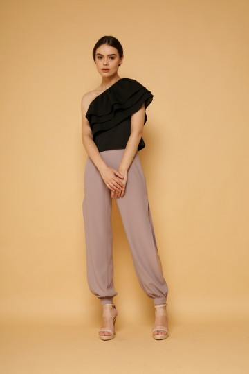 Illusion Pants in Taupe image