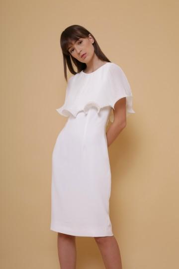 Lotus Cape Dress in White image