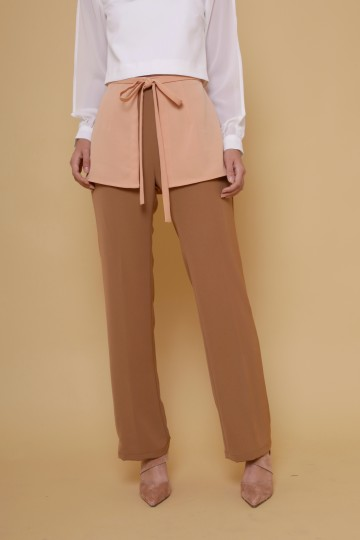 Aquilla Apron Pants in Camel image
