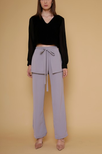 Aquilla Apron Pants in Grey image