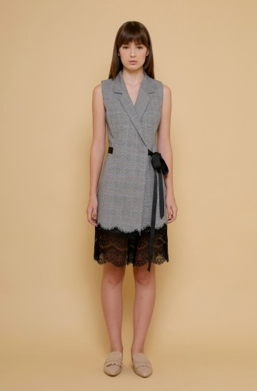 The Promise Wrap Dress in Plaid image