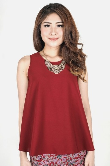 Alice Top in Maroon image