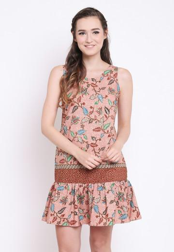 Lasya Dress in Brown image