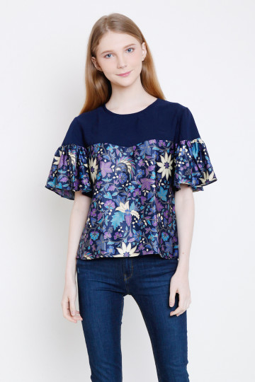 Irda Top in Navy image