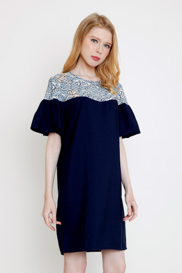 Jacy Dress in Navy image