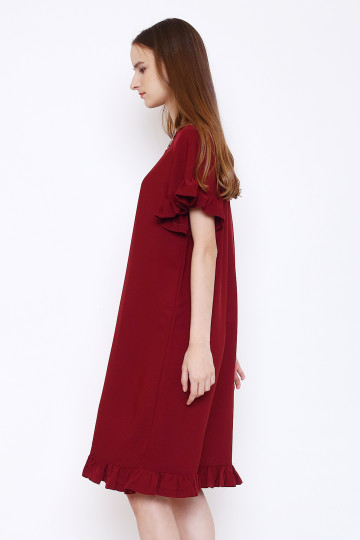 Lucy Dress in Maroon image