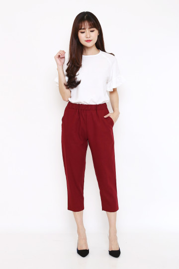 Linni Pants in Maroon image