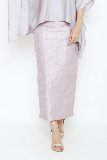 Long Songket Skirt Lilac image