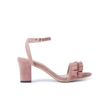 Macy Pink Frill Heels