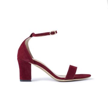 Jane Maroon Block Heels