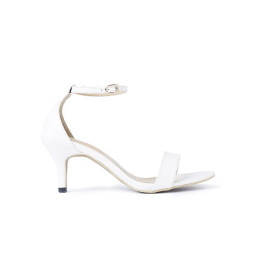 Basic White Sandal Heels