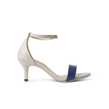 Basic Two Tone Navy Sandal Heels