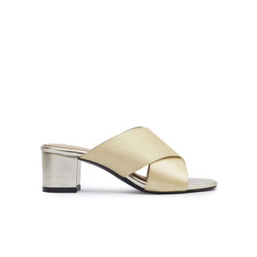 Emma Gold Heeled Mules
