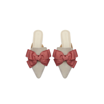 Eline Pink Bow Mules