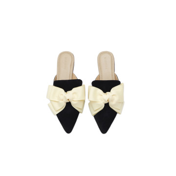 Eline Cream Bow Mules
