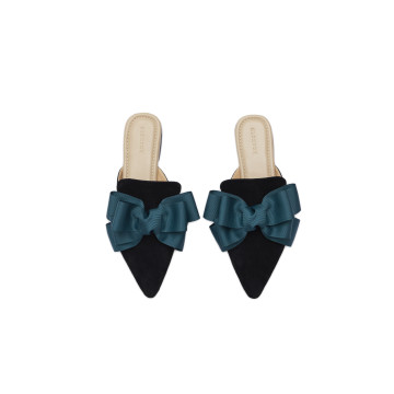 Eline Green Bow Mules