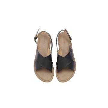 Gea Black Cross Sandal