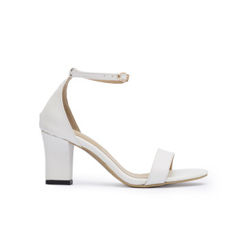Jane White Block Heels