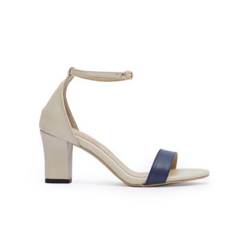 Jane TT Navy Block Heels