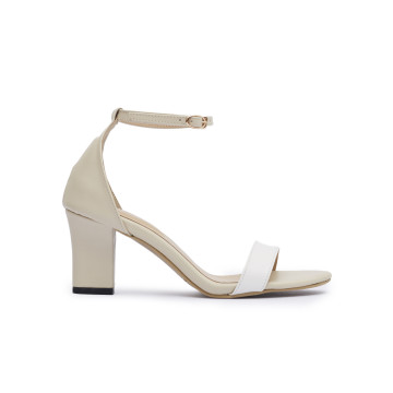 Jane TT White Block Heels